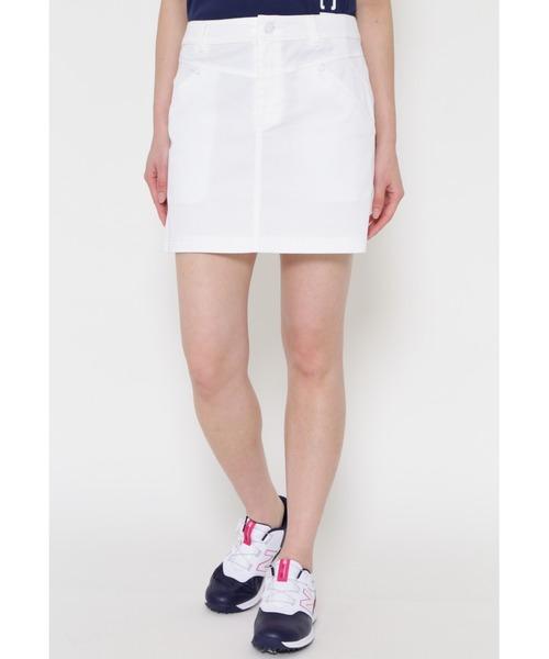 New Balance Golf(ニューバランスゴルフ)の「【new balance golf】ストレッチツイル スカート (WOMENS METRO)(スカート)」|ホワイト