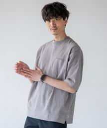 USAコットンリラックスシルエットポケットTシャツ