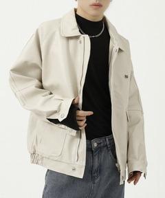 【WB ORIGINALS】【2021AW】PU Leather Single Riders Jacket WO21W2HOT03