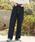 kutir(クティール)の「【低身長向けXSサイズあり】ハイウエストストレートデニムパンツ(デニムパンツ)」|ダークインディゴブルー
