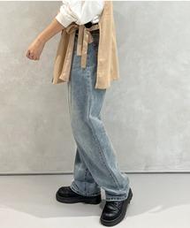 kutir(クティール)の【XS〜XLサイズあり】ハイウエストストレートデニムパンツ(デニムパンツ)