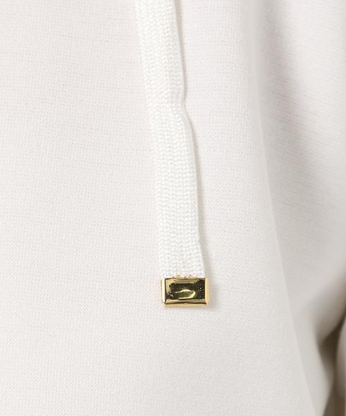 袖パールフード付きパーカー