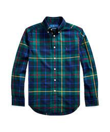 Polo Ralph Lauren Childrenswear(ポロラルフローレンチャイルドウェア)のプラッド コットンポプリン シャツ(シャツ/ブラウス)
