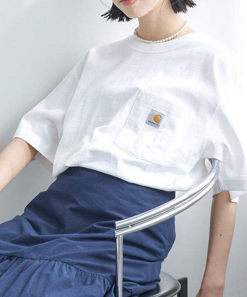 carhartt(カーハート) ビッグシルエット ポケット半袖 ロゴ Tシャツ Workwear Pocket 1/2 Sleeve T-Shirts (Chaco closet)