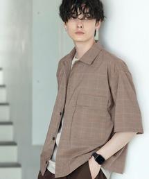 TRストレッチ スーツ地 オーバーサイズ ドレープ CPOシャツ/レギュラカラーシャツ(1/2 sleeve)ベージュ系その他2