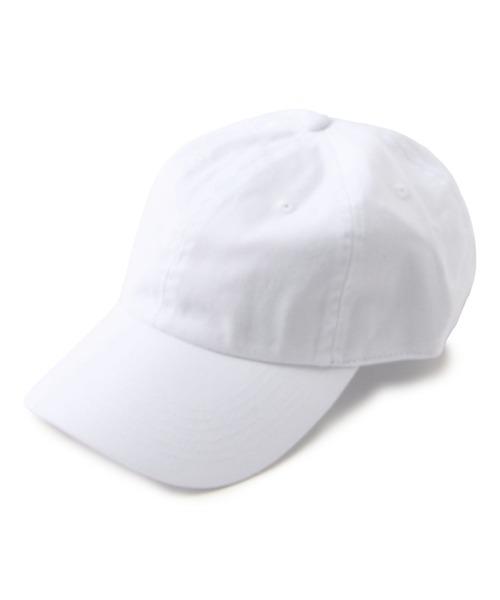 newhattan(ニューハッタン)の「NEWHATTAN/ニューハッタン/《WEB限定》ベースボールキャップ/Baseball LowCap(キャップ)」|ホワイト
