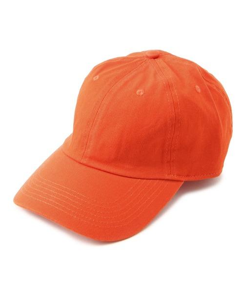 newhattan(ニューハッタン)の「NEWHATTAN/ニューハッタン/《WEB限定》ベースボールキャップ/Baseball LowCap(キャップ)」|オレンジ