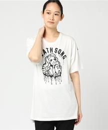 DEATH SONG プリント ビッグTシャツ