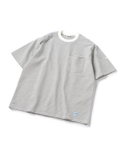 ORCIVAL:ポケット付きボーダーTシャツ
