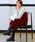 Fashion Letter(ファッションレター)の「リブニット ロングキャミワンピース(サロペット/オーバーオール)」|ボルドー