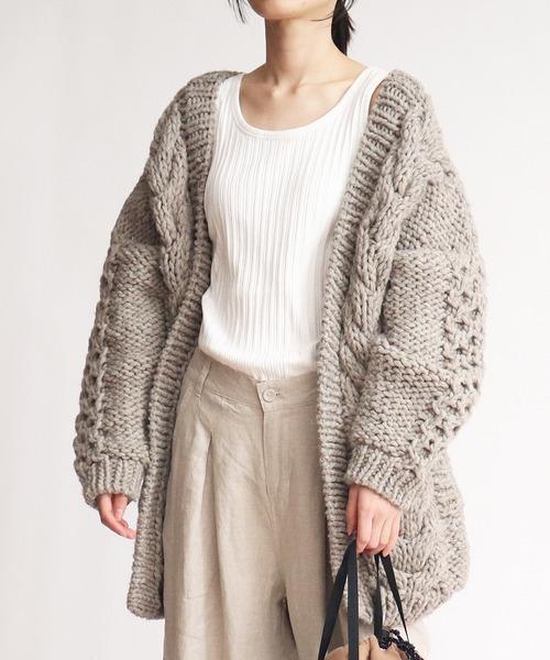 【Allumer/アリュメール】 # Hand Knit Cardigan 8153202