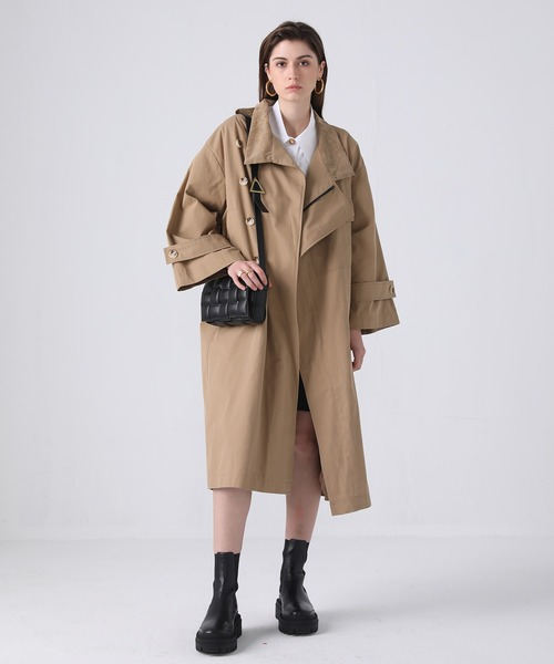 【chuclla】【2021/SS】Corduroy stand‐up collar coat chw1409