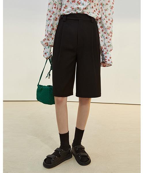 【Fano Studios】【2021SS】High waist tuck shorts FC21K035