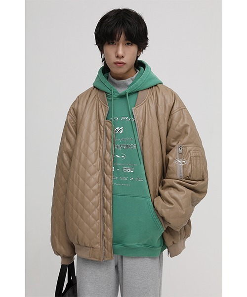 【M.P Studios】【2021AW】Oversized quilted PU leather blouson WT0972