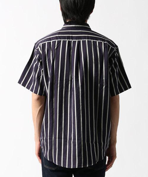 リラックスストライプシャツ