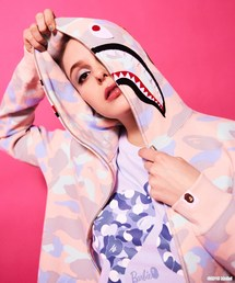 PASTEL MULTI CAMO SHARK FULL ZIP HOODIE L(パーカー)