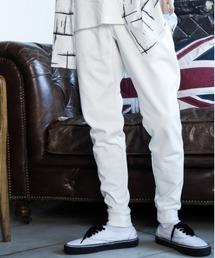 【BASQUE -enthusiastic design-】T/Cポンチサイドラインジョガーパンツホワイト系その他