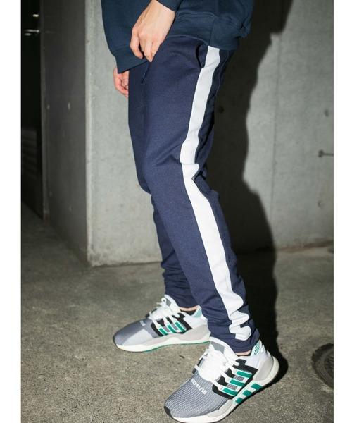 【BASQUE -enthusiastic design-】T/Cポンチサイドラインジョガーパンツ