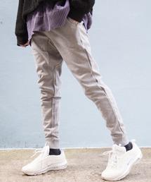 【BASQUE -enthusiastic design-】T/Cポンチサイドラインジョガーパンツグレー系その他2