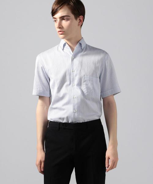 アイスドビー ワンピースカラー半袖シャツ