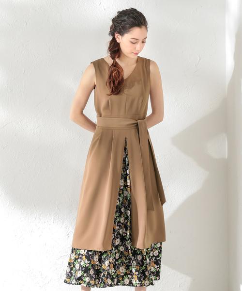 【LOVELESS】WOMEN マキシレイヤードドレス