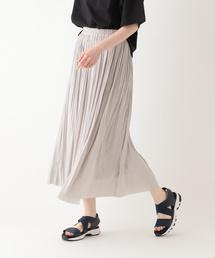 studio CLIP(スタディオクリップ)のビンテージサテン消しプリーツスカート(スカート)