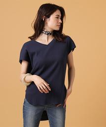 AZUL BY MOUSSY(アズールバイマウジー)のワッフルバックヘンリーネックカットソー(Tシャツ/カットソー)