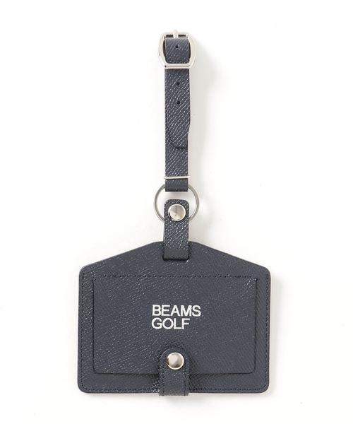 BEAMS GOLF(ビームスゴルフ)の「BEAMS GOLF / レザー ネームホルダー(ゴルフグッズ)」 ネイビー