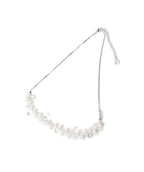 LAYMEE(レイミー)の「Floren long necklace / フローレンロングイヤリング(イヤリング)」 シルバー