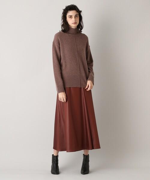 aquagirl(アクアガール)の「ウールカシミヤハイネックニット(ニット/セーター)」|詳細画像