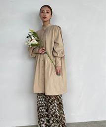 【SANSeLF】 Se original tuck blouse sanwz1ベージュ