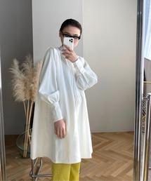 【SANSeLF】 Se original tuck blouse sanwz1ホワイト