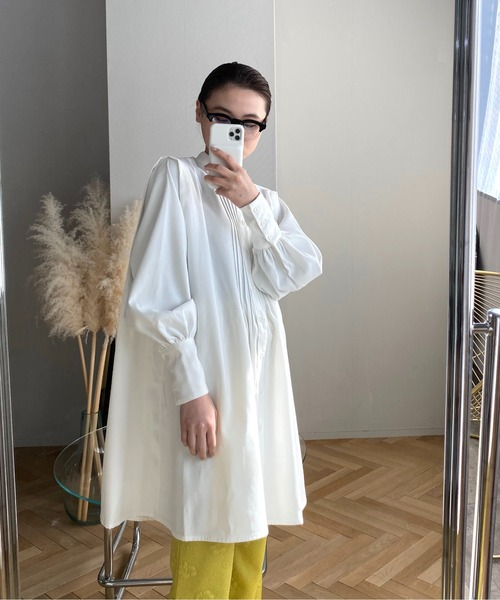 【SANSeLF】 Se original tuck blouse sanwz1
