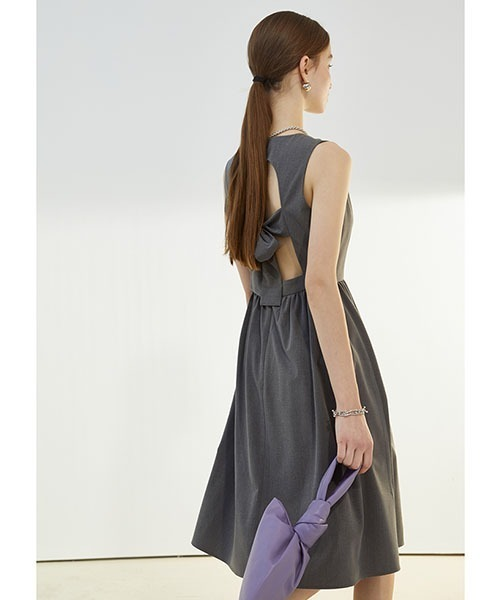 【Fano Studios】【2021SS】Big bow tie short dress FX21L008