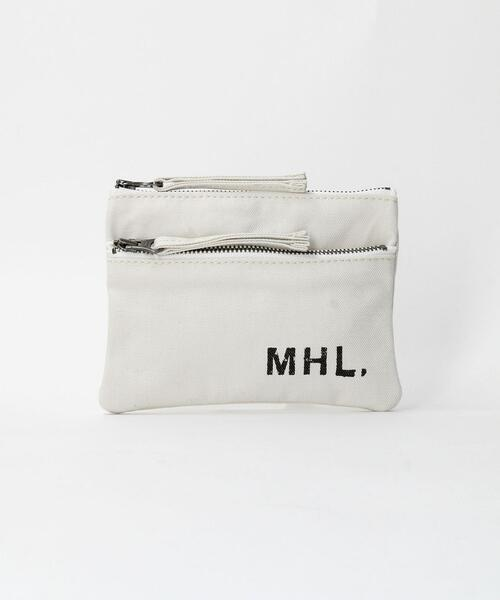 <MHL.> LOGO POUCH S/ポーチ