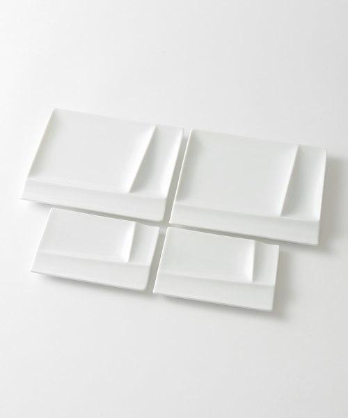 IDEA(イデア)の「isolaパレット ペア4pcsセット(食器)」 ホワイト