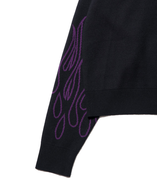 【MYne】 fire knit pullover