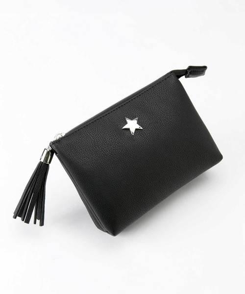 シンプル 星 ほし スター 3層ミニポーチ[ケリー]
