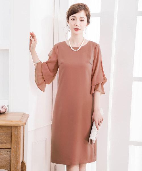 2353d74789af1 DRESS STAR(ドレス スター)のキャンディーシフォンスリーブワンピースドレス(ドレス)