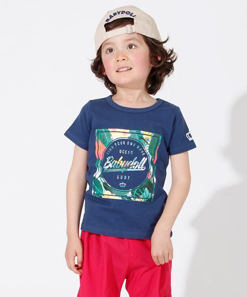 cfcfb249bccc3 BABYDOLL(ベビードール)の「親子お揃い SURF リゾート Tシャツ 2239K(