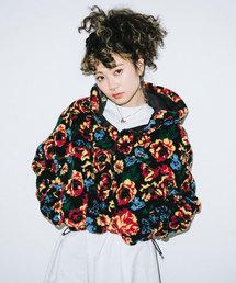 X-girl(エックスガール)のFLORAL BOA SHORT ANORAK(ブルゾン)