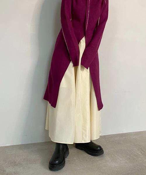 【SANSeLF】 taffeta maxi skirt sanwz2