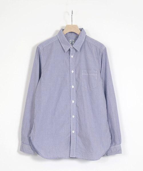 [D.M.G / ディーエムジー] 高密度ブロードストライプ レギュラーカラーシャツ