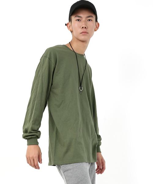 GILDAN クルーネック長袖無地Tシャツ