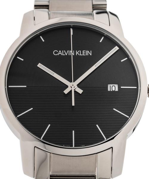 [カルバンクライン] CALVIN KLEIN 腕時計 City Extension(シティ エクステンション) 3針 シルバー×ブラック