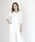 nina mew(ニーナミュウ)の「総針Vネックニット(Tシャツ/カットソー)」|ホワイト
