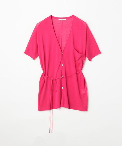 印象のデザイン クレープコットン GALERIE Vネックカーディガン(ニット/セーター)|GALERIE VIE(ギャルリー ヴィー)のファッション通販, アイエスショップ 【】:5e2b8867 --- pyme.pe
