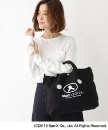 【WEB限定】 コラボ 別注 リラックマ フェイス 刺繍 キャンバス トートバッグ [ギフト ショルダーバッグ](トートバッグ)