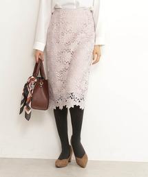 N.(N. Natural Beauty Basic)(エヌエヌナチュラルビューティーベーシック)の【追加生産】ケミカルレースタイトスカート(スカート)