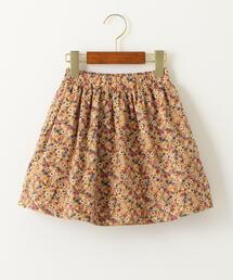 無地×花柄 リバーシブルスカート